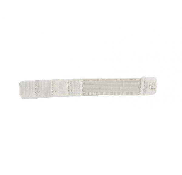 Rallonge dos soutien gorge 3 portes 15mm blanc