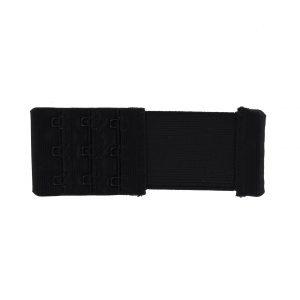 Rallonge dos soutien gorge 3 portes 40mm noir