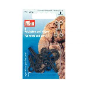 Agrafe fourrure guipe 3 brun