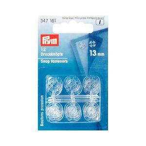 Pression plastique transparent 13mm x 12