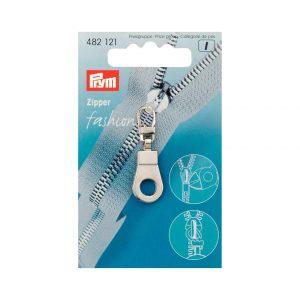 Tirette Fashion zip oeillet métal