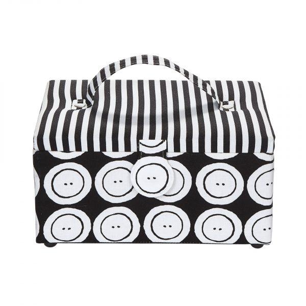 Boîte à couture Black & White 26 x19 x14 cm