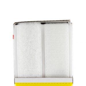 Ruban VELCRO adhésif double face 25mm blanc