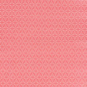 Coupon toile enduite 46x60 cm - sakura écru Corail