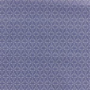 Coupon toile enduite 46x60 cm - sakura écru bleu
