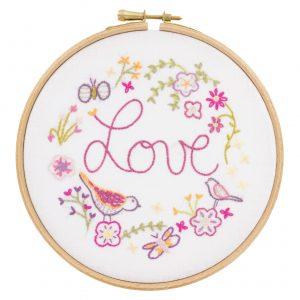 Kit à broder - Love love love