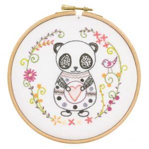 Kit à broder - Sacha le panda