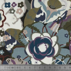 Tissu GATSBY GARDEN fleurs 1,36m 100% coton au mètre