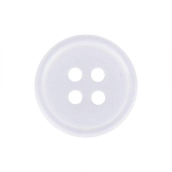 Bouton chemise classique blanc 10mm - 408 10133 10 01