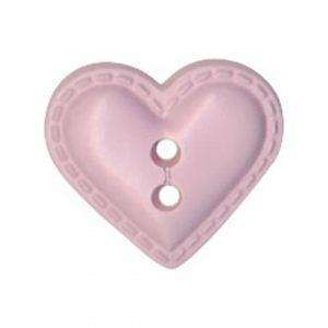 Bouton enfant forme cœur façon cuir violet 12mm - 408 22367 12 15