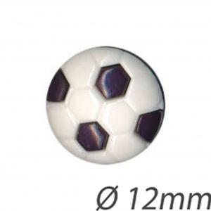 Bouton enfant  ballon de foot bleu 12mm - 408 24025 12 02