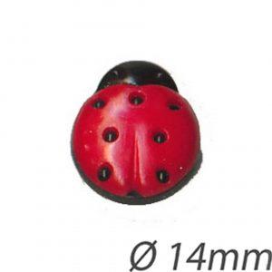 Bouton enfant forme coccinelle 14mm - 408 24049 14 99