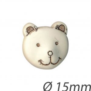 Bouton enfant tête d'ours 15mm - 408 24135 15 99