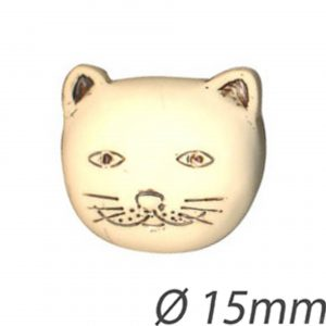 Bouton chat 15 mm - 408 24137 15 06