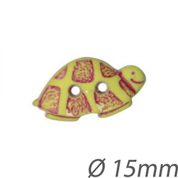 Bouton enfant forme tortue 15mm - 408 24356 15 99