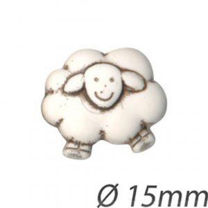 Bouton enfant forme mouton 15mm - 408 24459 15 99