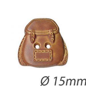 Bouton enfant forme sac a dos 15mm - 408 24567 15 13