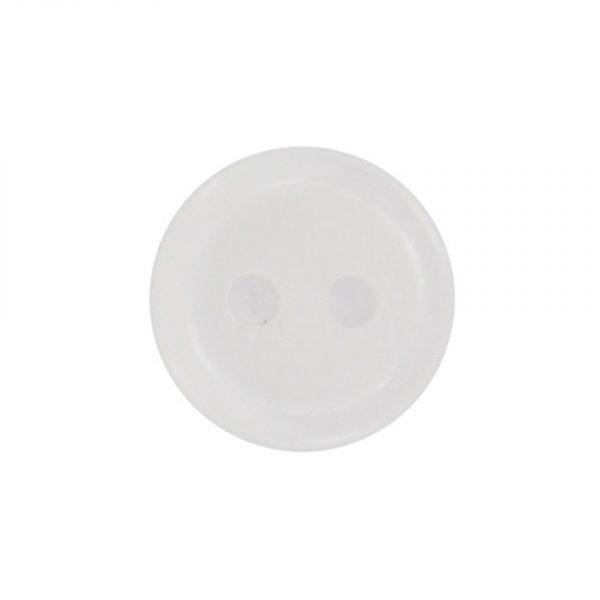 Bouton classique blanc 09mm - 408 24715 09 01
