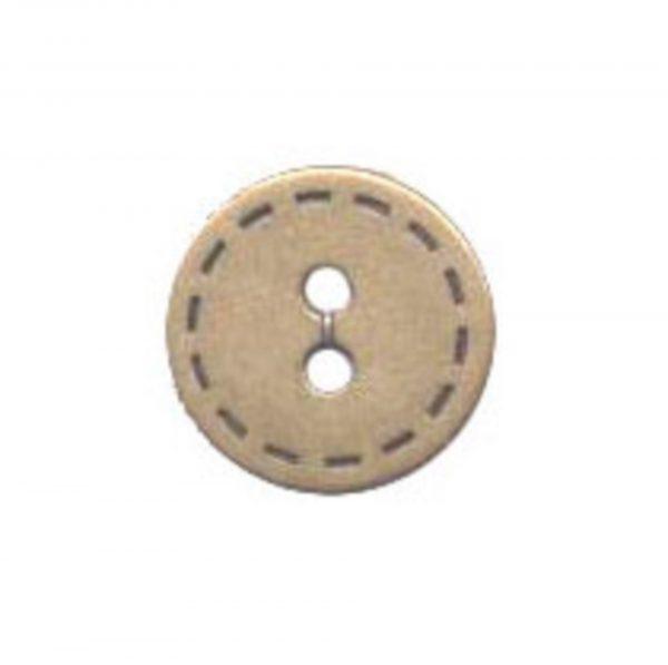 bouton fantaisie metal bronze 15mm - 408 25610 15 44