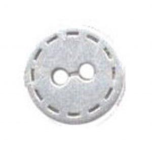 bouton fantaisie metal argent vieilli 15mm - 408 25610 15 51