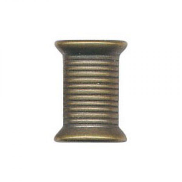 Bouton fantaisie forme bobine bronze ABS 12mm - 408 25706 12 44