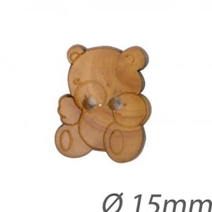 Bouton en bois forme ours - 408 26039 15 30