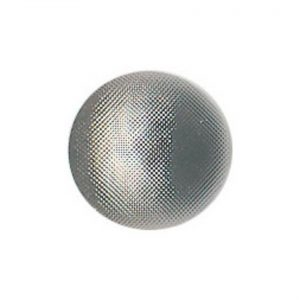 Bouton couture 1/2 boule argent ABS 11mm - 408 33444 11 50