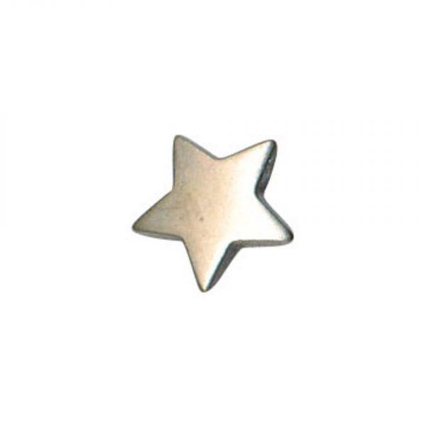 Bouton fantaisie forme etoile en metal argent 10mm - 408 33687 10 50
