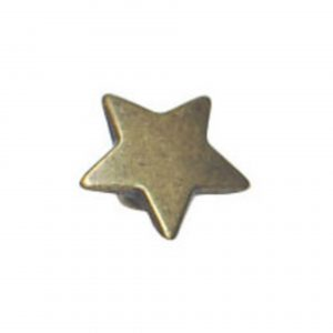 Bouton fantaisie forme etoile en metal 12 mm - 408 33687 12 44