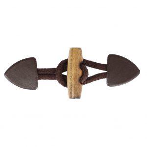 Brandebourg bois imitation cuir marron 115x40mm - 408 43001 99 05
