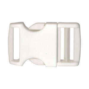 Boucle metal blanc 40mm - 408 45048 30 01