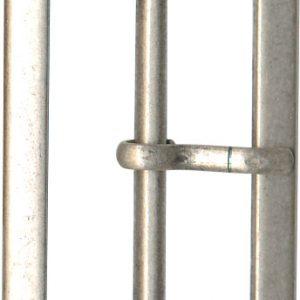 Boucle metal rectangulaire argent 25mm - 408 45115 30 53
