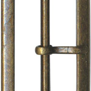 Boucle banane métal 40x18mm - 408 45115 40 44