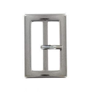 Boucle metal  rectangulaire argent 40mm - 408 45115 40 54