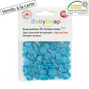 Bouton pression turquoise
