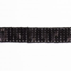 Galon paillettes 20mm noir