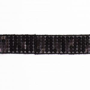 Galon paillettes 20mm noir