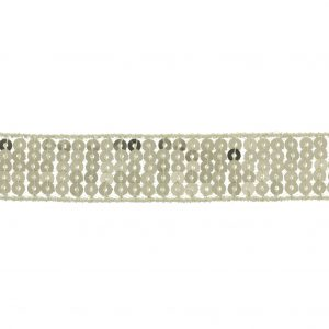 Galon paillettes 20mm champagne