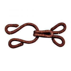 Crochet fourrure recouvert marron 15x35mm