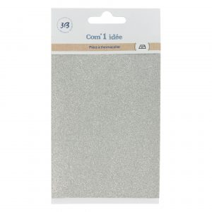 Pièce à thermocoller gris 10,4x15cm