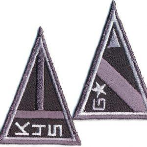 Thermocollant Assortiment armée noir 5 x 5 cm
