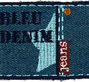Thermocollant BLEU DENIM 4,5 x 6 cm