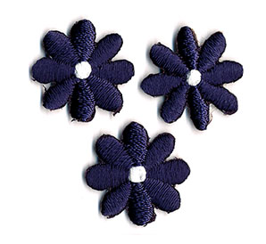 Thermocollant fleurs violettes 2 x 2 cm