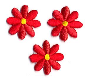 Thermocollant fleurs rouges 2 x 2 cm