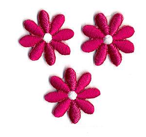 Thermocollant fleurs fuchia 2 x 2 cm