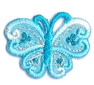 Thermocollant papillon bleu 2 x 3 cm