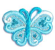 Thermocollant papillon bleu 2 x 3 cm