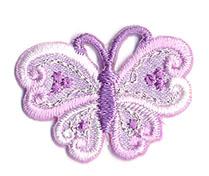 Thermocollant papillon parme 2 x 3 cm