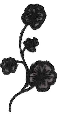 Thermocollantfloral noir