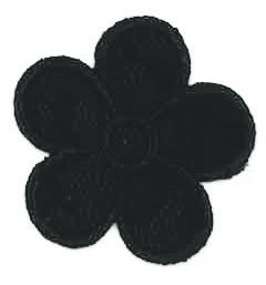 Thermocollant fleur dentelle noire